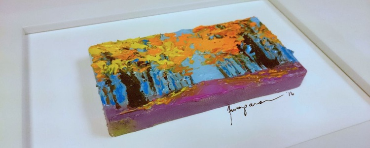 Fall Foliage leaves | Miniature Landscape Painting - Image 0