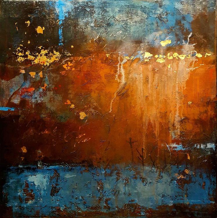 """""""Celtic Treasure"""" large 36""""x36"""" painting on canvas - Image 0"""