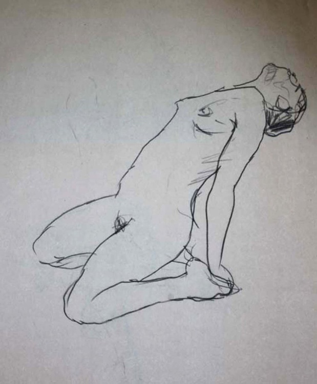 Arched back life drawing - Image 0