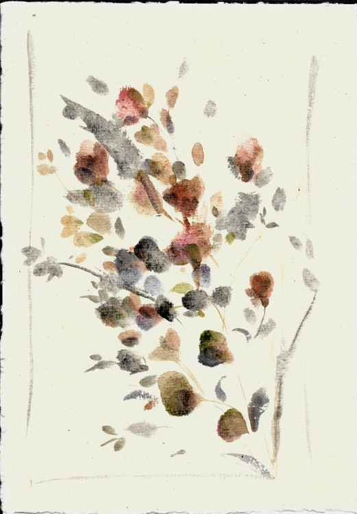 Automnal Flowers 3, Liquitex Muted collection