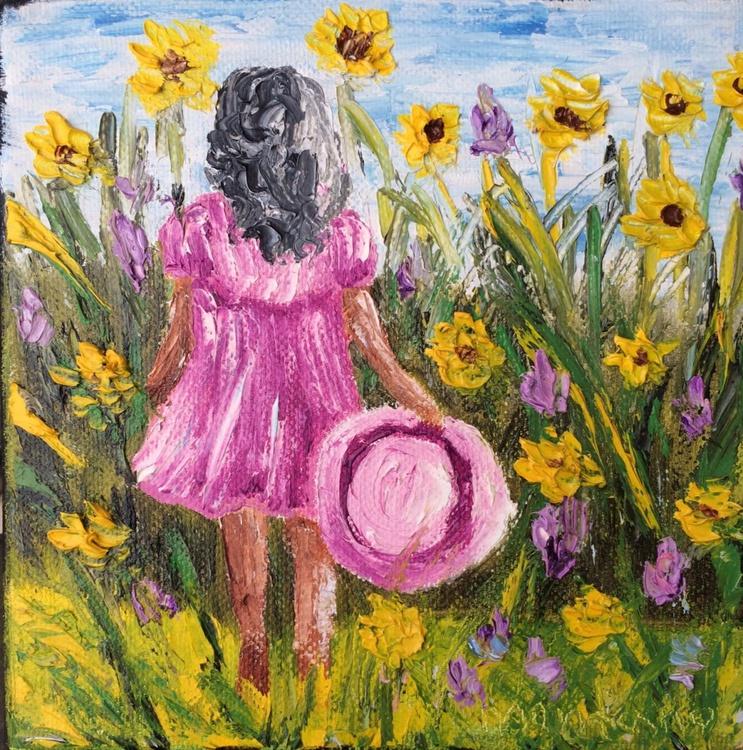 Girl in the garden - Image 0
