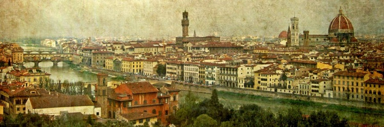 View over Florence - Canvas 90 x 30 cm - Image 0