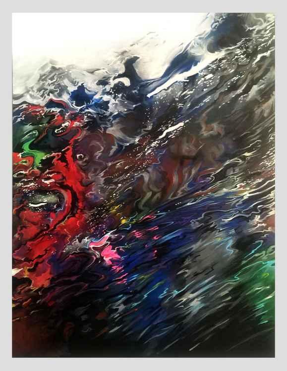 'Nebula' - original painting on canvas -