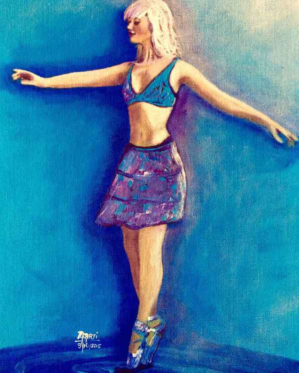 Urban Ballerina in Blue