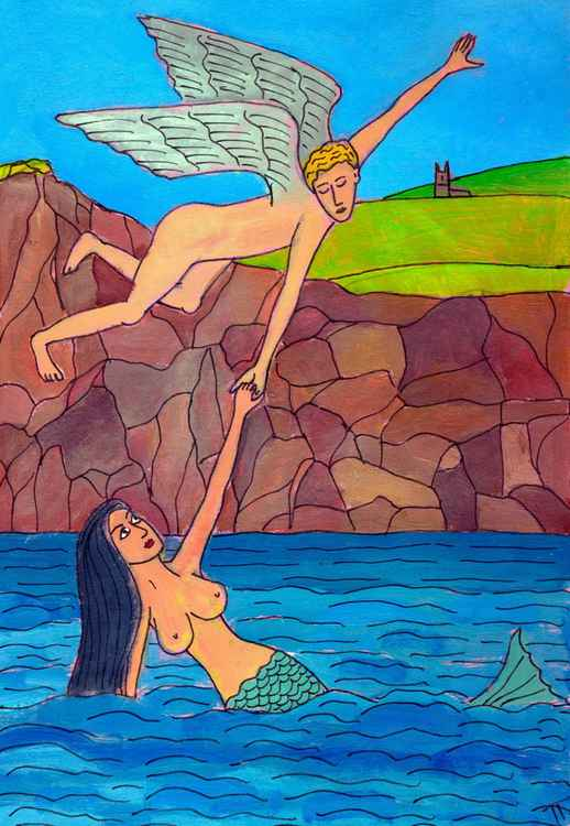 The Angel and The Zennor Mermaid -