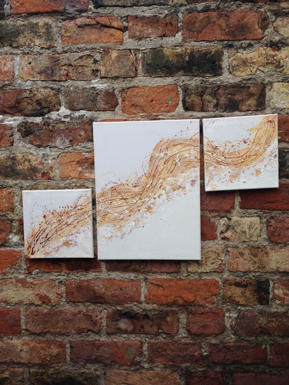 """""""Whispers of Gold"""" Triptych - Image 0"""