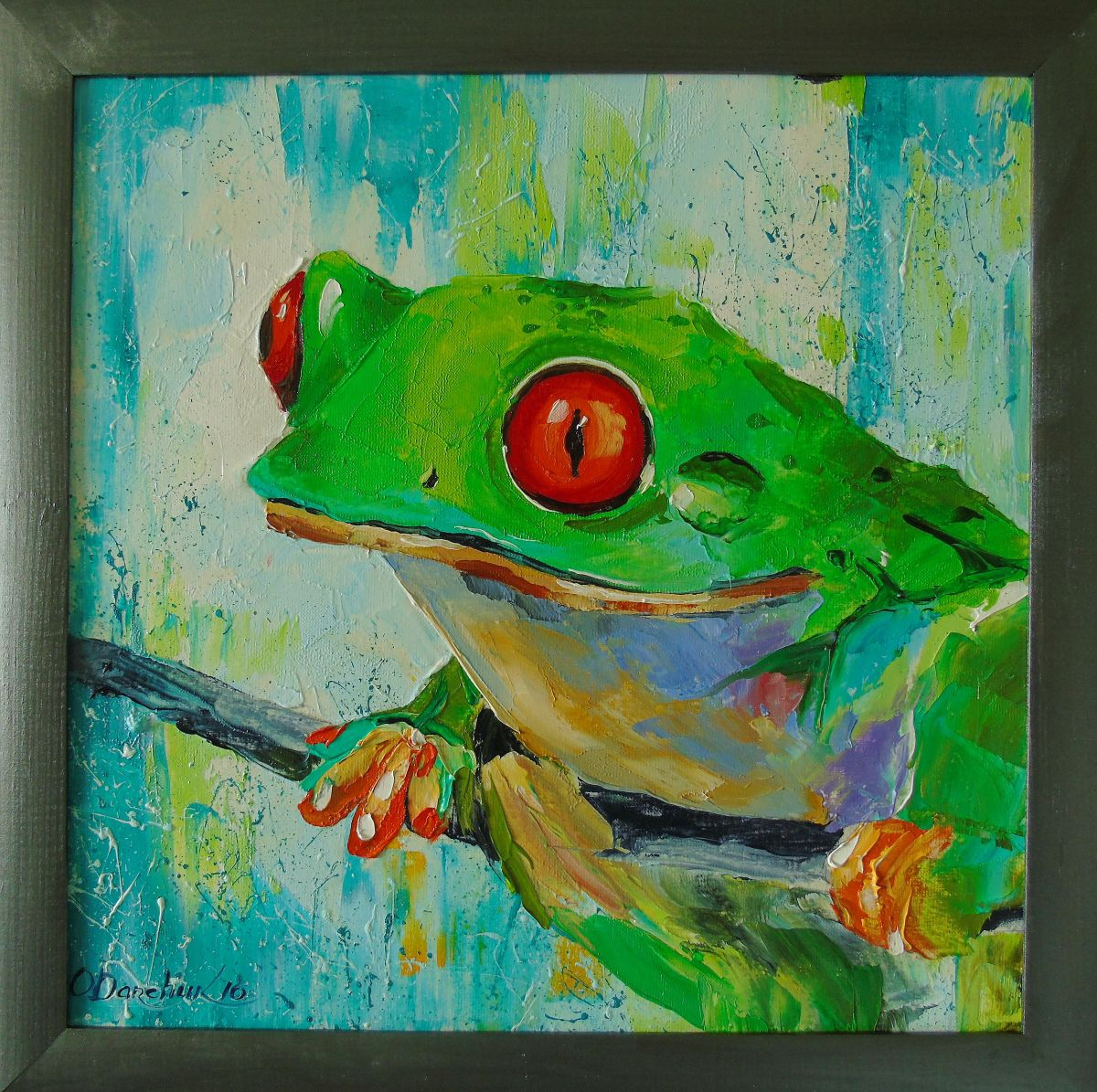 Frog (2016) Oil painting by Olha Darchuk | Artfinder