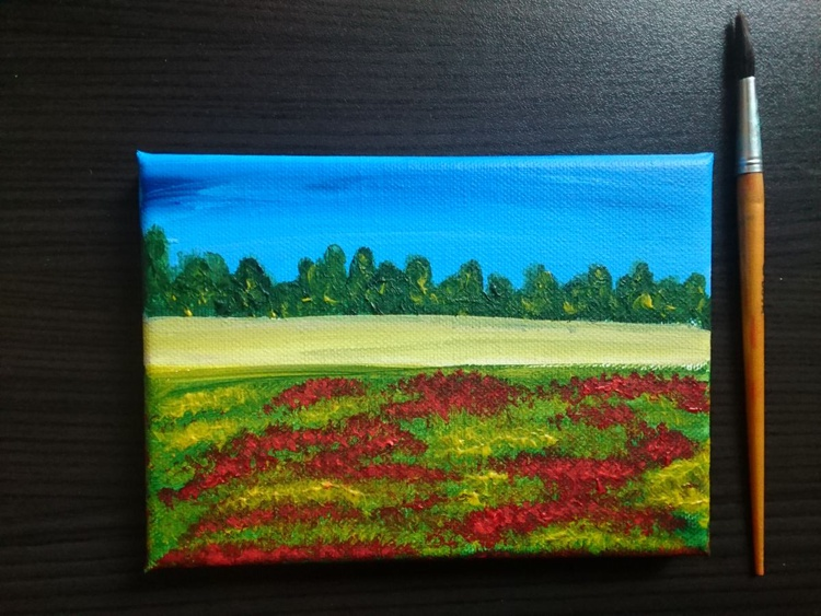 Poppy field - small spring landscape - Image 0