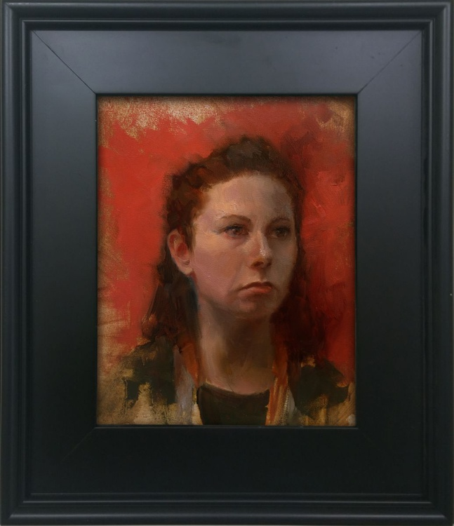 Red and Green- Portrait of woman - Image 0