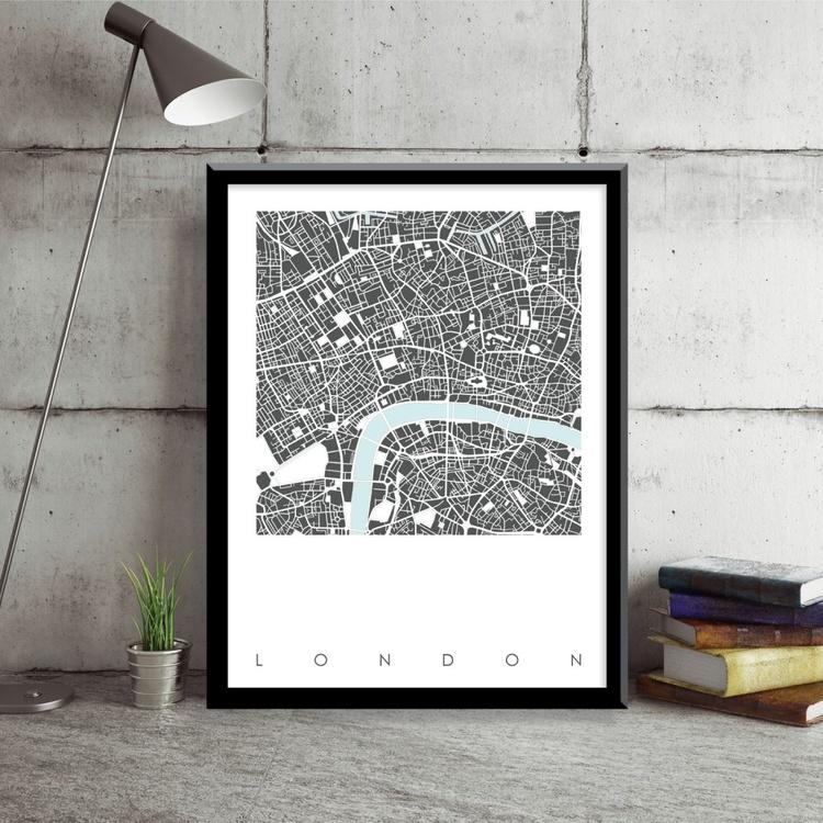 London Map Art - Limited Edition Print - Image 0