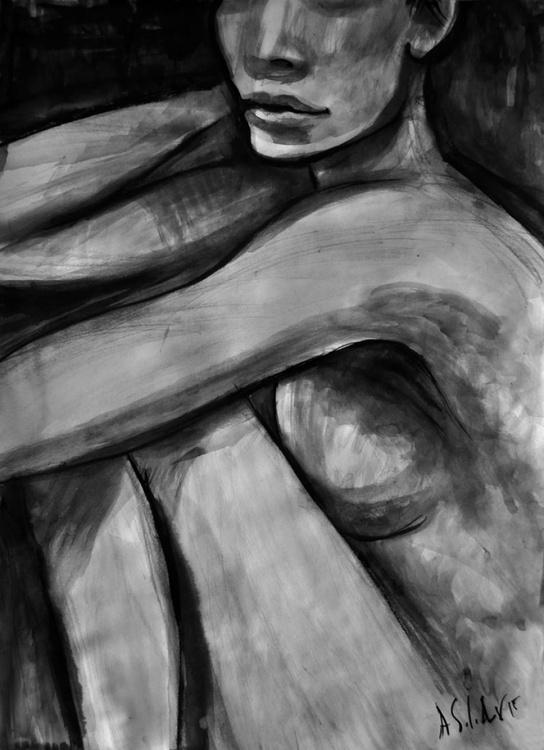 Seated Nude Model - Image 0