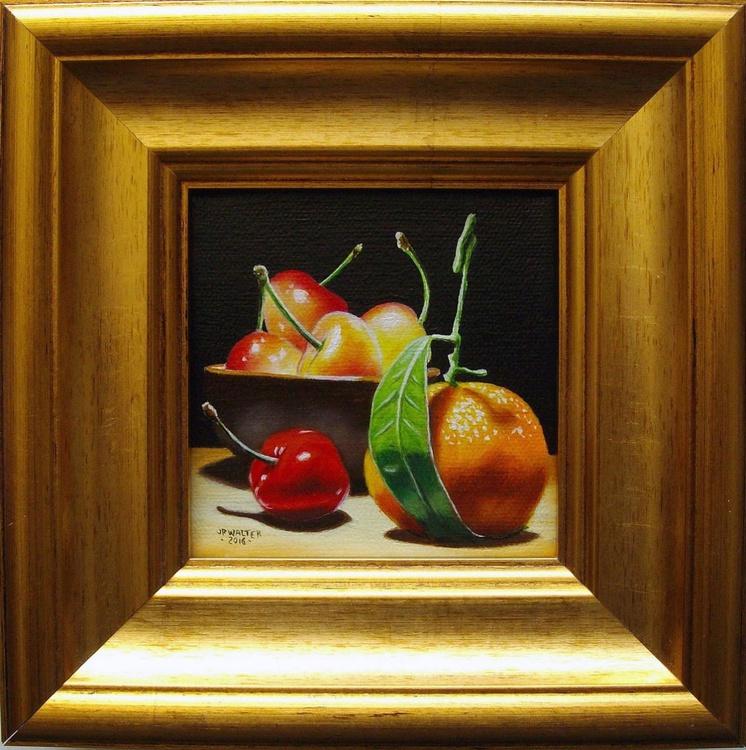 Cherries and clementine - Image 0