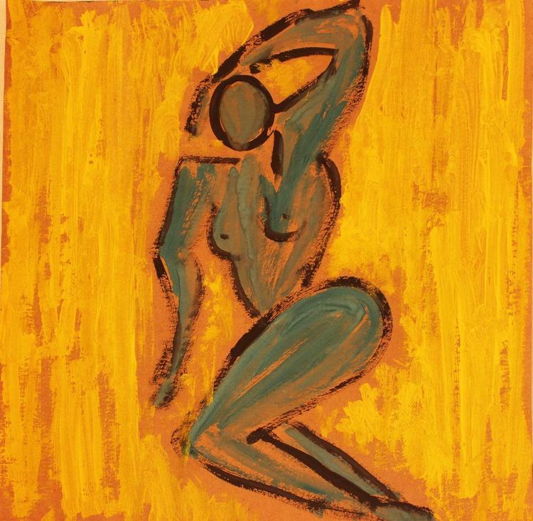 nude on yellow - Image 0