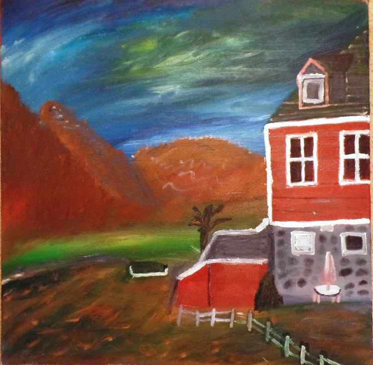 The litte red house -