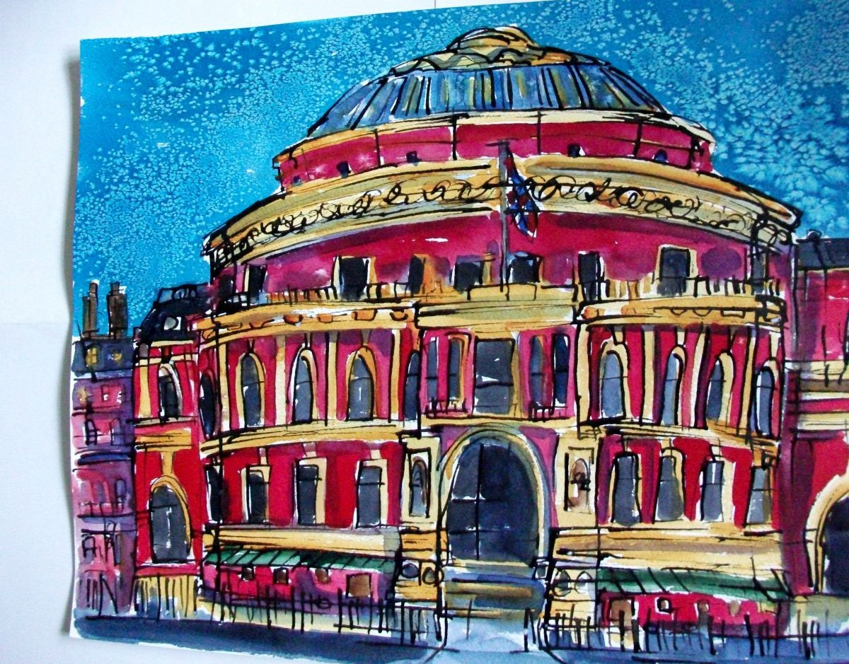 The royal albert hall london 2016 watercolours by ann for Door 8 royal albert hall