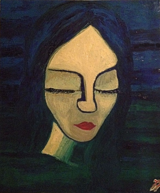 "Woman (2016) - Oil Painting - 19.69 x 23.62"" - FREE SHIPPING - Image 0"