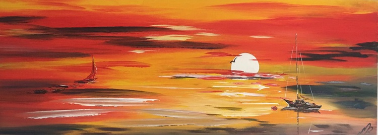 Red sails in the sunset - Image 0