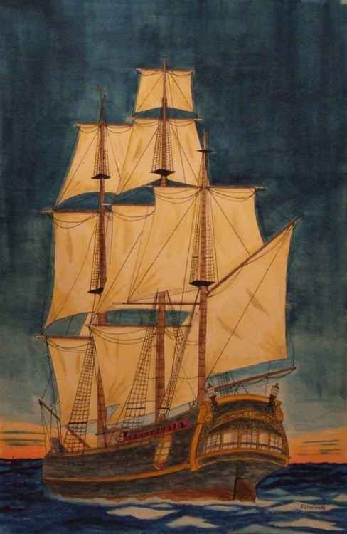 Sailing Off Into The Sunset (The HMS Bounty) -