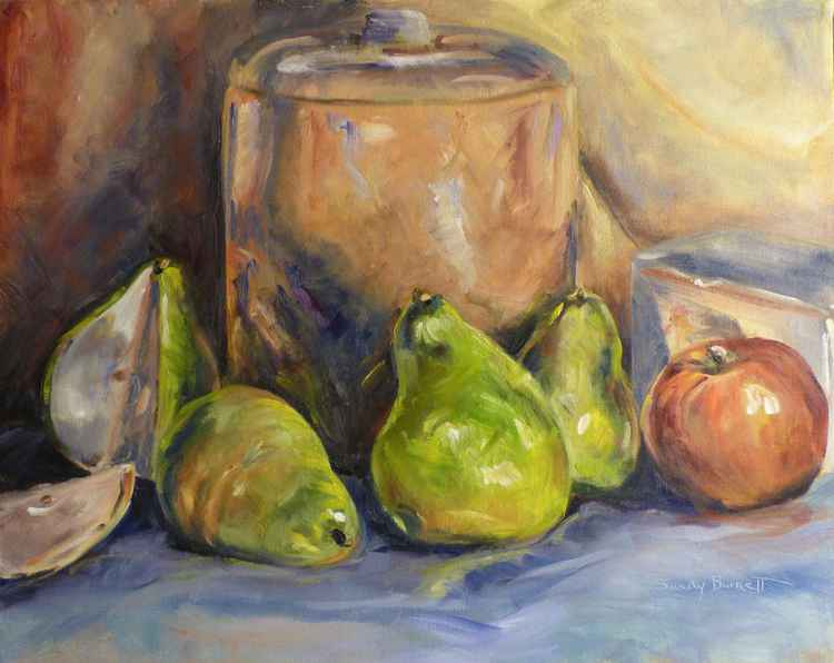 Pears and cookie jar