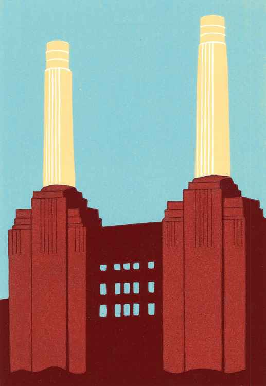 Red Battersea Power Station III -