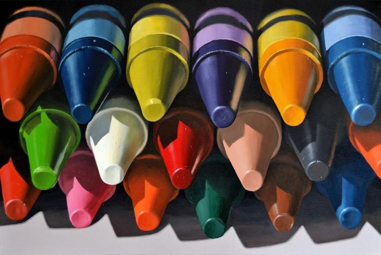 Eighteen Crayons - Image 0