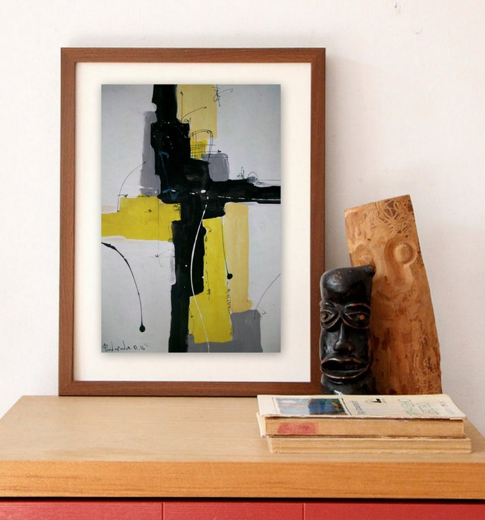 yellow II, Abstract paper collection - Image 0
