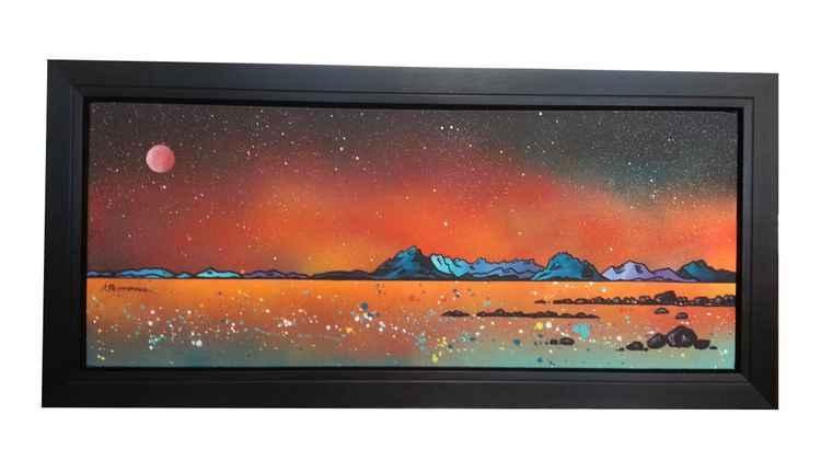 Summer Glow Over Skye from Elgol, Scottish Hebrides - An original Scottish landscape painting