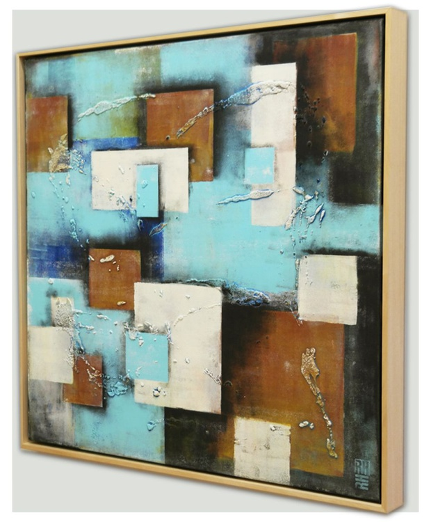 Abstract Painting - Square City Blocks - C28 - Image 0