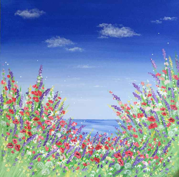 Poppies by the Sea -