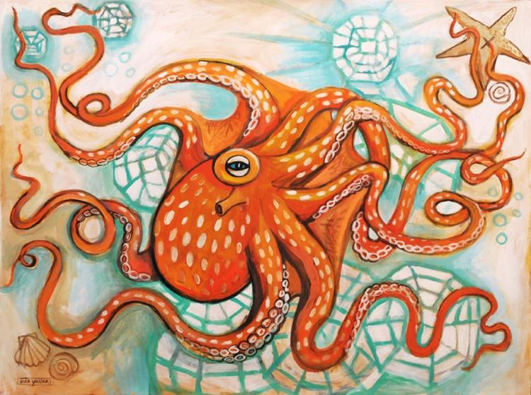 Orange Octopus - Image 0