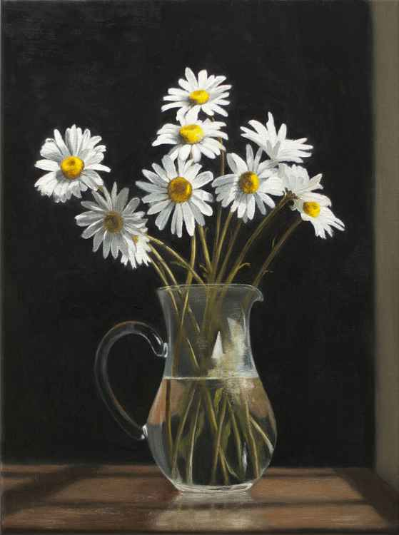 A Jug of Michaelmas Daisies -