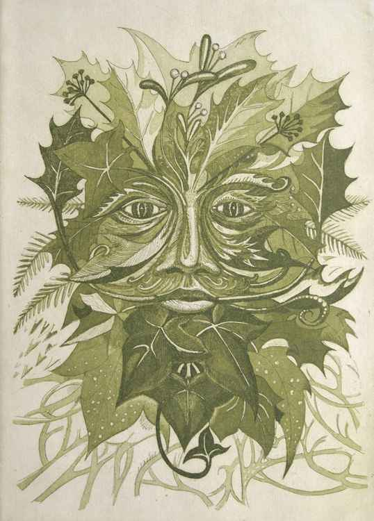 Winter Green Man -