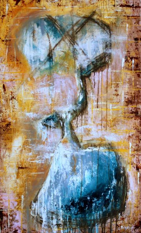 "Descendant - Large original abstract 22"" x 36"" - Image 0"