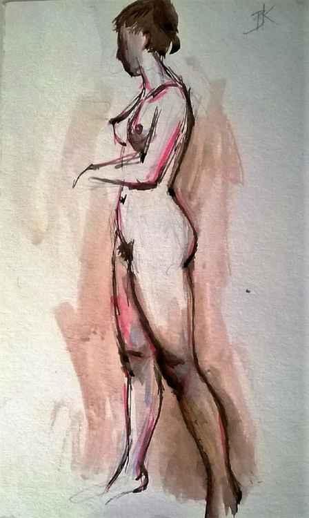 Model Standing -