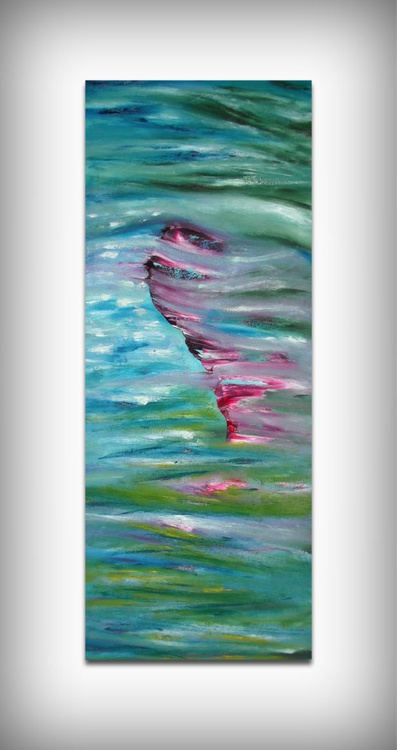 Impressionist -  40x100 cm, Original abstract painting, oil on canvas - Image 0