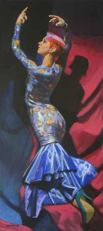 Blue dress -