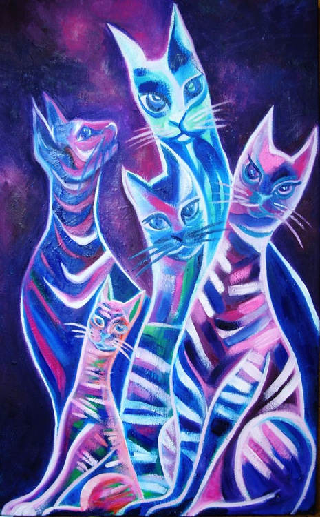 Animal Totem: Le Chat; Chiffre 5: Esprit d'indépendance, Sensualité, Liberté, Vie. - Image 0