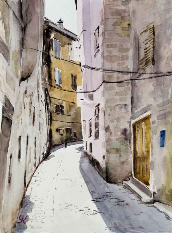 """Rovinj, Croatia"", original watercolour painting, 30x40cm -"