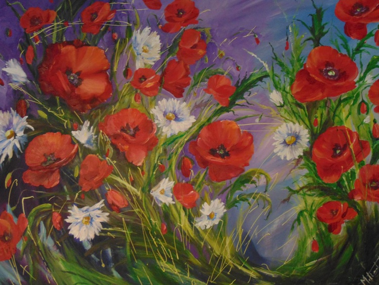 Poppies With Daisies - Image 0
