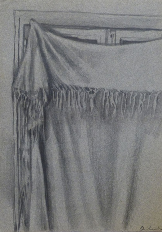 Still Life: Curtain, 23x32 cm - Image 0