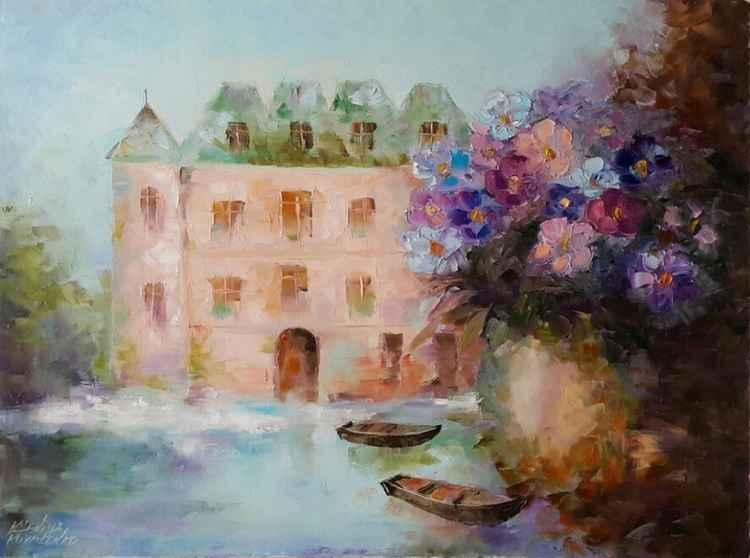 painting  *Путешествие в сказку* Oil on canvas 80х60 cm -