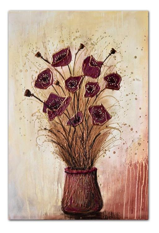 Burgundy Bouquet Flowers - Image 0