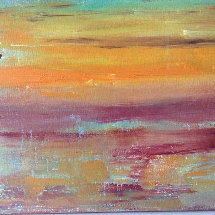 Mountain Lake Sunset - Image 0