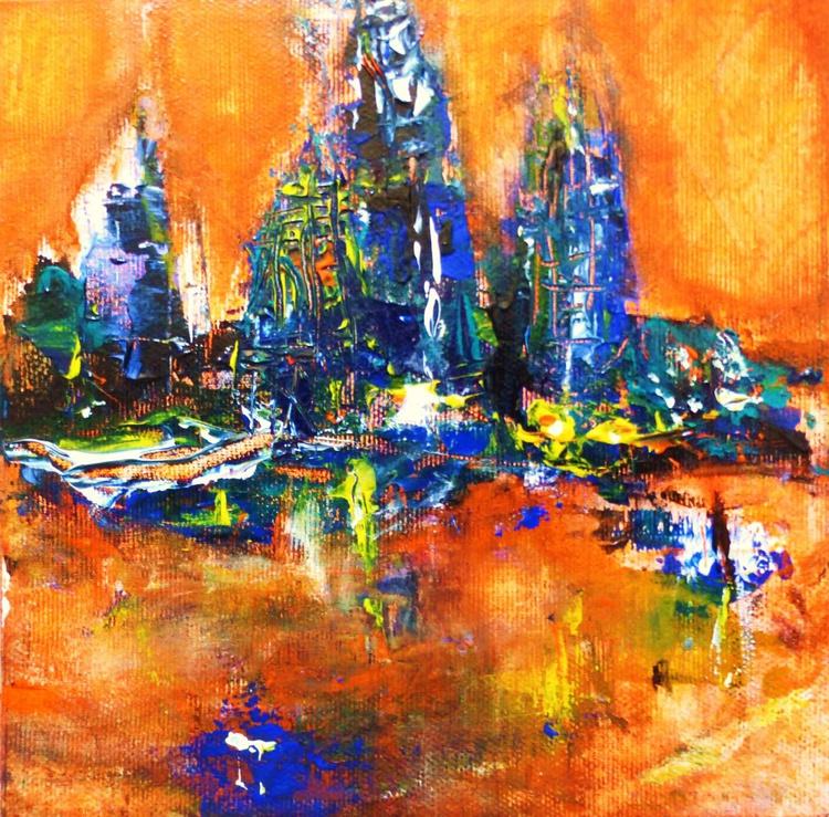 The city. 19x19cm - Image 0