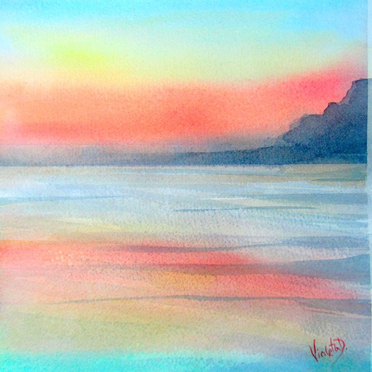 Homage to J.M.W. Turner: Sunrise in Santorini, Greece 2 - Image 0