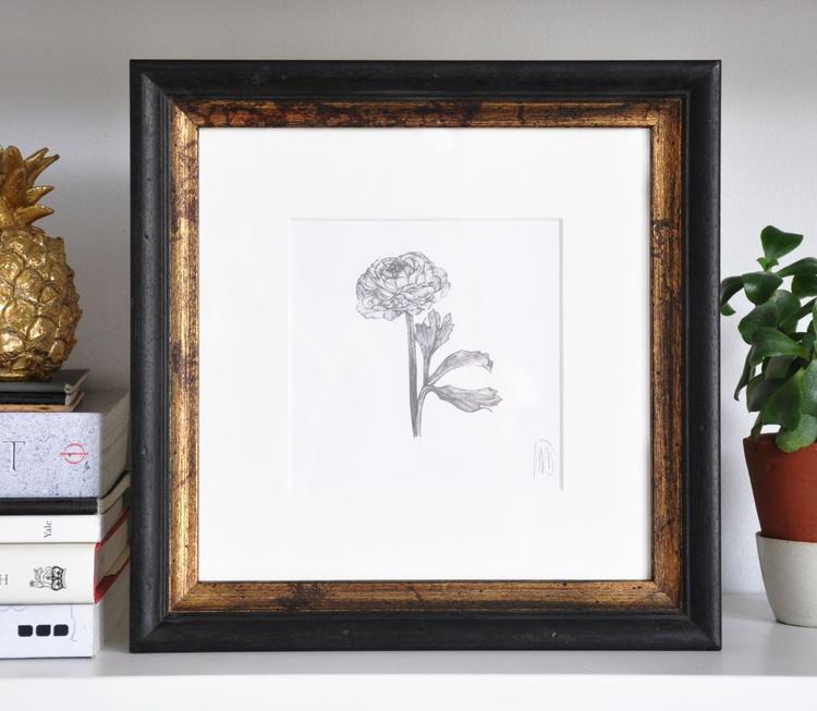 Original drawing of a ranunculus - Image 0