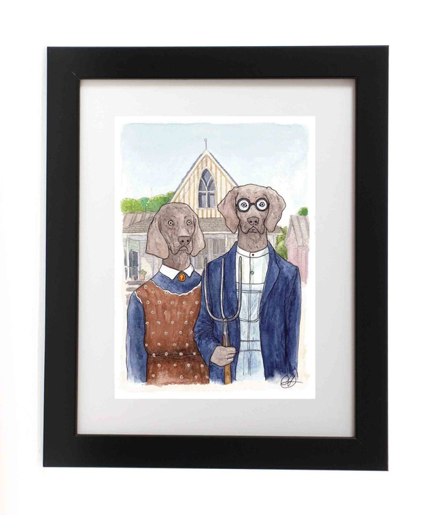 American Dogthic (Ready Framed) - Image 0