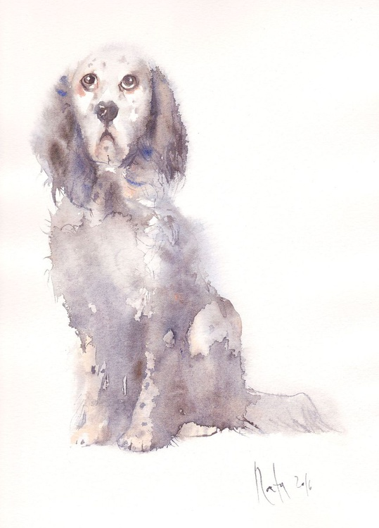 Snoopy (English Setter) / Framed/ Ready to hang! / - Image 0