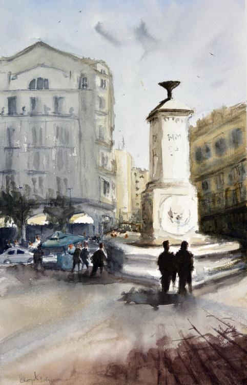 Terazije, Belgrade - original watercolor painting by Nenad Kojić - Image 0