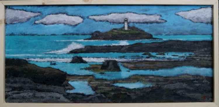 Godrevy Lighthouse. -